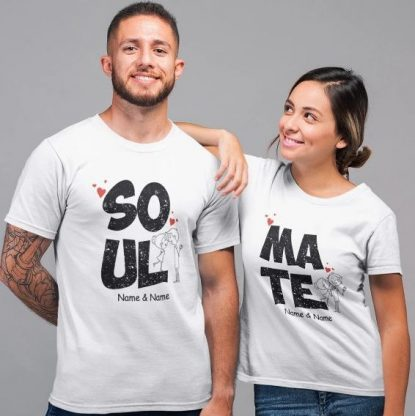 """Be Awara """"Soulmate"""" couples T-shirt: Best Couple Tshirts"""