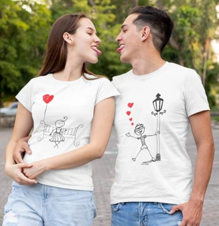 Be Awara Street Love Couple T-shirts: Best Couple Tshirts