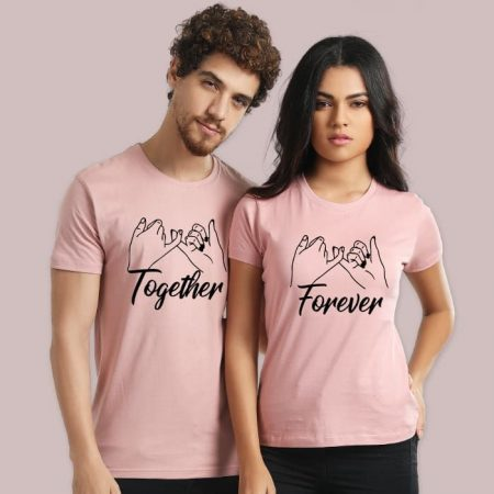 """BeYoung """"Forever Together"""" Couple T-Shirt: Best Couple Tshirts"""