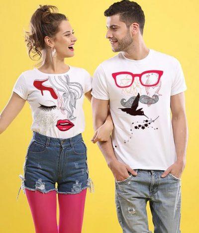 Bonorganik Masculine and Feminine Couple T-shirt: Best Couple Tshirts