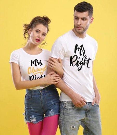 Bonorganik Mrs. Always Right Couple T-shirts: Best Couple Tshirts