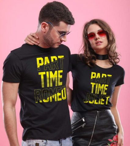 Bonorganik Part Time Romeo/Juliet, Matching T-shirts For Couples: Best Couple Tshirts