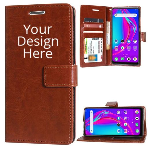 Brown Leather Diary Flip Cover For Vivo Y12: Best Back Case For Vivo Y12