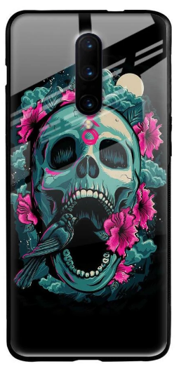 Colorful Skull Texture Glass Case for OnePlus 7 Pro: Best OnePlus 7 Pro Cover