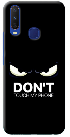 Don't Touch My Phone Case for Vivo Y12: Best Back Case For Vivo Y12