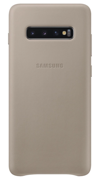 Galaxy S10+ Leather Back Cover, Gray: Best Cover For Galaxy S10+