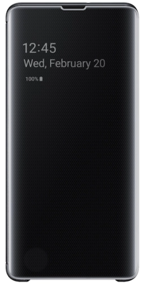 Galaxy S10+ S-View Flip Cover, Black: Best Cover For Galaxy S10+