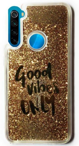 Golden Liquid Glitter Back Cover for Redmi Note 8: Best Xiaomi Redmi Note 8 Back Cover
