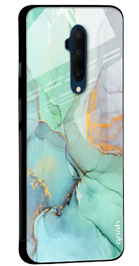 Green Marble Glass Case for OnePlus 7T Pro: Best Oneplus 7T Pro Cover