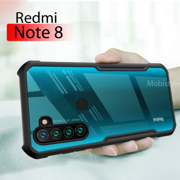 Mobistyle Shockproof Clear Shell Back Cover for Redmi Note 8: Best Xiaomi Redmi Note 8 Back Cover