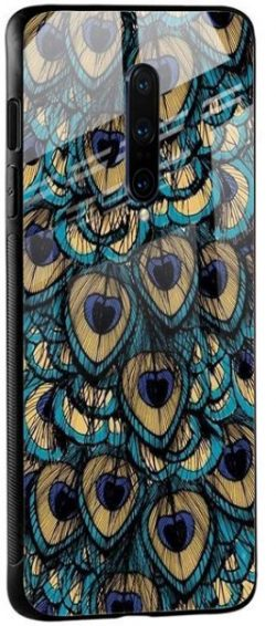 Peacock Feathers Glass case for OnePlus 8 Pro: Best Oneplus 8 Pro Cover