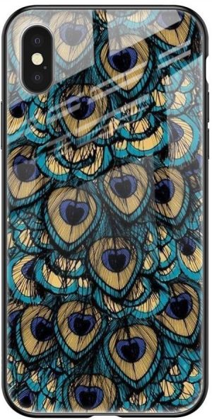 Peacock Feathers Glass case for iPhone XS: Best iPhone XS Cover