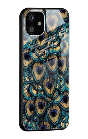 Peacock Feathers iPhone 11 Glass Case