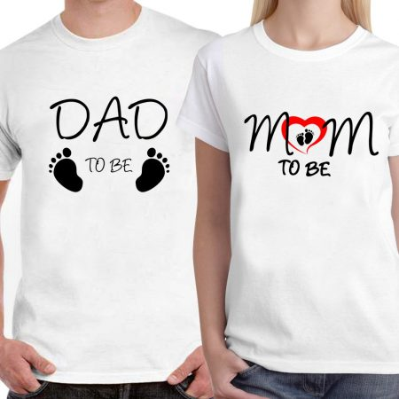 Powerpuff - Dad and Mom to be Couple T-Shirts for Lovers: Best Couple Tshirts