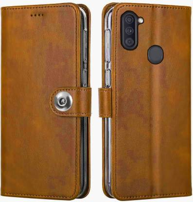 Shinestar Back Cover (Leather) for Samsung Galaxy M11: Best Samsung Galaxy M11 Cover