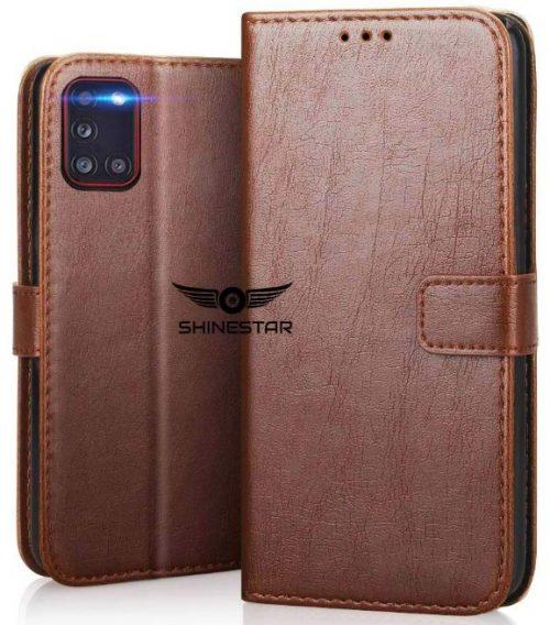 Shinestar Leather Flip Case: Best Samsung Galaxy A31 Case