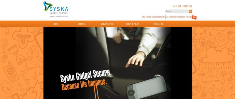 Syska Gadget mobile insurance: Best Mobile Phone Insurance Company