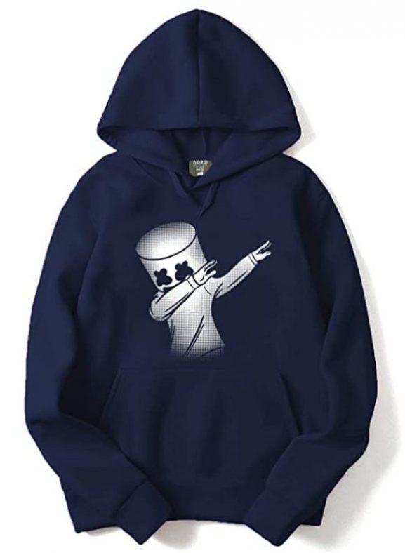 ADRO Men's Marshmello Design Printed Cotton Hoodies - Best Printed Hoodies (2020)