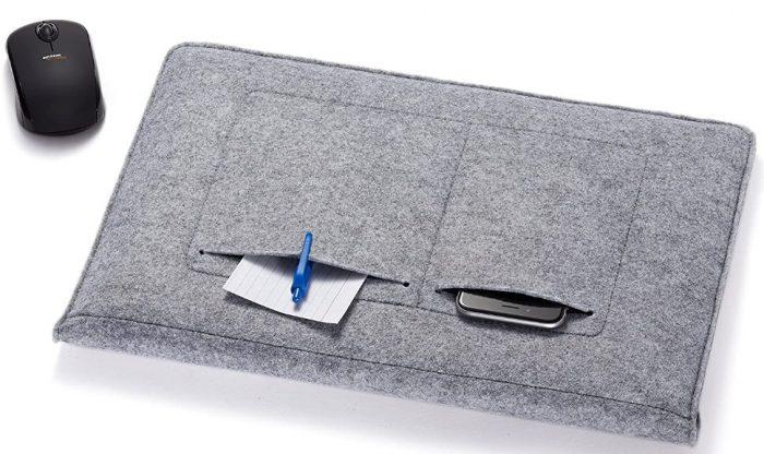 AmazonBasics 15.4-Inch Felt Laptop Sleeve (Light Grey): Best Laptop Sleeve