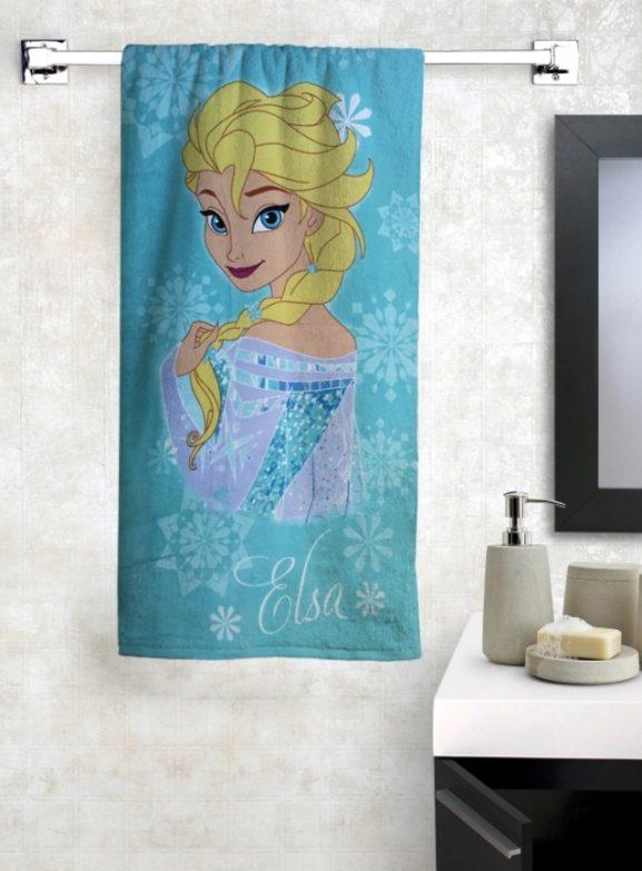 Athom Trendz Elsa Print Bath Towel - best printed bath towels (2020)