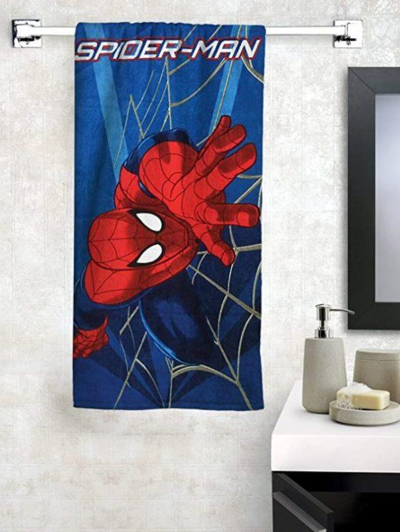 Athom Trendz Marvel Spider Man Cotton Bath Towel - best printed bath towels (2020)