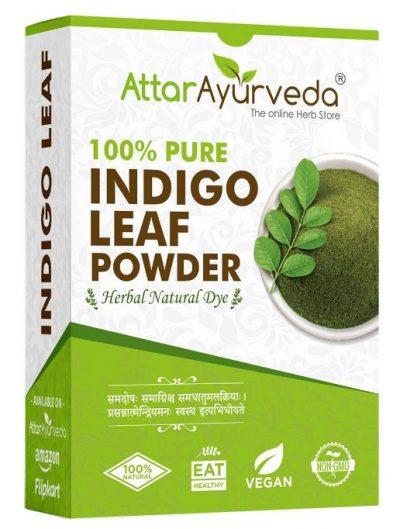 Attar Ayurveda Indigo Powder for Black Hair (200 grams): Hair Color Brand