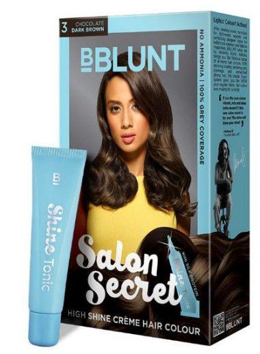 BBLUNT Salon Secret High Shine Creme 100g with Shine Tonic, 8ml: Hair Color Brand