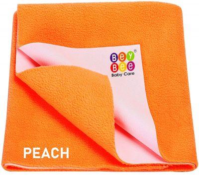 Bey Bee Waterproof Bed Protector Baby Dry Sheet, Medium, Peach: Best Baby Dry Sheet