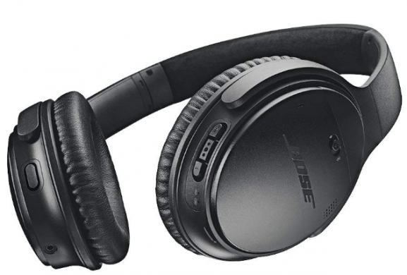 Bose QuietComfort 35 Noise-Cancelling, with Alexa Voice Control - Black: Best Noise-Canceling Wireless Headphone