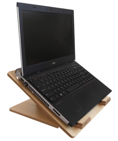 DONDA Portable Ultra-Slim Laptop Stand for Desk (Wooden): Laptop Stand