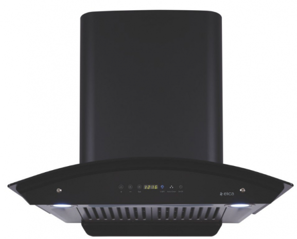 Elica 60 cm 1200 m3/hr Auto Clean Chimney 2 Baffle Filters, Touch Control, Black: Best Kitchen Chimney In India