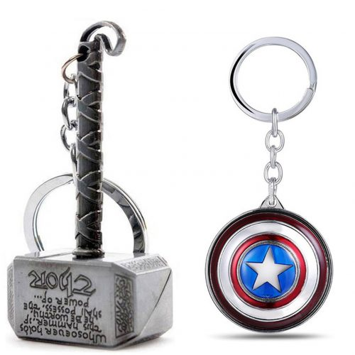 Ensure Sales Marvel Avengers Thor and Captain America Key Chains Combo: Keychain