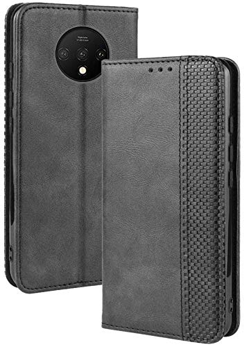 Excelsior Premium Leather Wallet flip case Cover with | Card and Cash Slot | 360 Full Body Protection | Inner TPU case for Oneplus 7T (Black): Best OnePlus 7T Cover