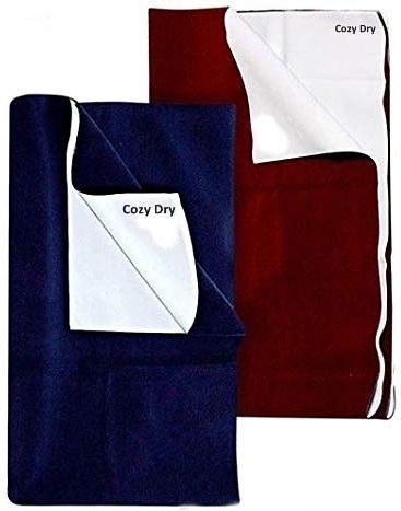 FRATELLI Cozy Dry Baby Bed Protector Twin Pack-Large, Navy Blue and Maroon: Best Baby Dry Sheet
