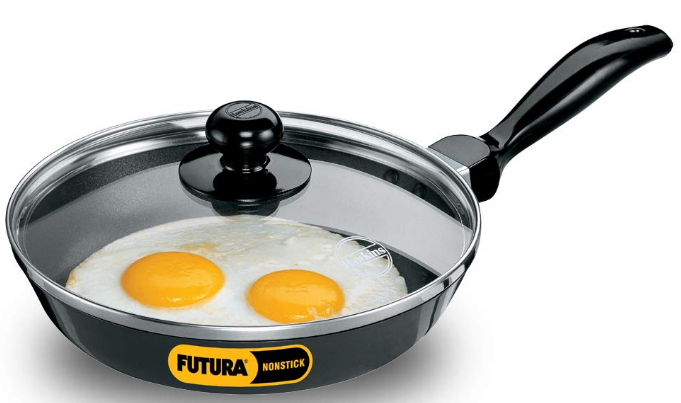 Hawkins Q22 Futura Non-Stick Frying Pan with Glass Lid: Non-Stick Fry Pan