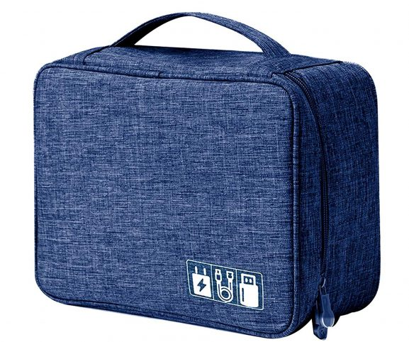 House of Quirk Electronics Accessories Organizer Bag: Storage Pouch Bag Case