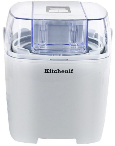 Kitchenif Digital Ice Cream, Sorbet, Slush Maker Capacity 1.5 Liters (White): Best Ice Cream Maker In India Done