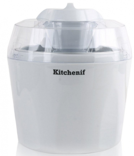 Kitchenif Ice Cream, Sorbet, Slush & Frozen Yoghurt Maker Capacity 1.5 Liters (White): Best Ice Cream Maker In India