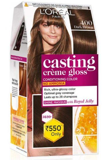 L'Oreal Paris Hair Color, Dark Brown 400, 87.5g+72ml: Hair Color Brand