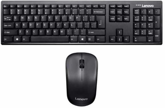 Lenovo 100 Wireless Key board & Mouse Combo: Wireless keyboard And Mouse