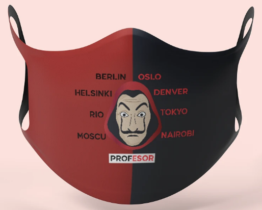 Money Heist Designer Face Mask: Best Printed Mask