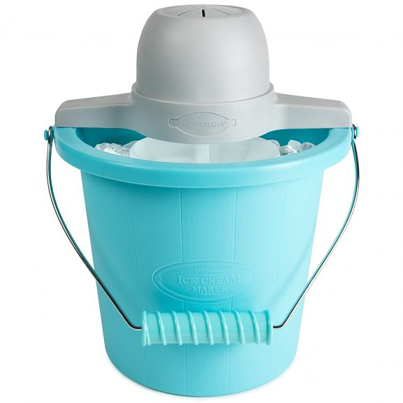 Nostalgia Electrics 4-Quart Electric Ice Cream Maker, Blue: Best Ice Cream Maker In India Done