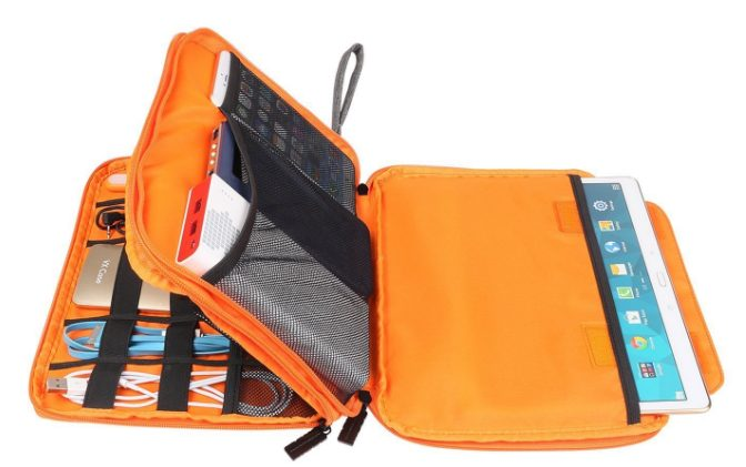 ORPIO (LABEL) Waterproof Double Layer Electronic Accessories Organizer Bag: Storage Pouch Bag Case