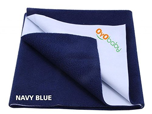 OYO BABY Waterproof Bed Protector Dry Sheet-Small, Navy Blue: Best Baby Dry Sheet