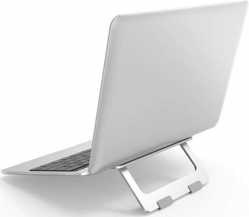 Oboe Aluminium Adjustable Laptop Stand (Silver): Laptop Stand