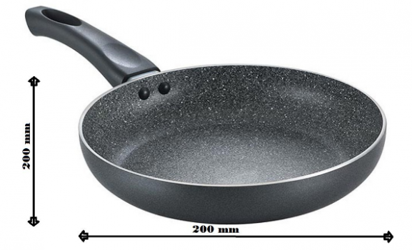 Prestige Omega Deluxe Aluminium Granite Fry Pan: Non-Stick Fry Pan