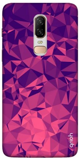 Qrioh Purple Diamond: Oneplus 6 Back Cover