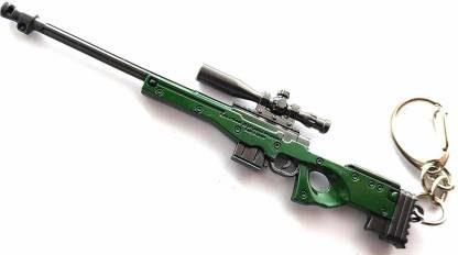 SHIBU AWM Military Skin Weapon Gun Pendant Key Chain: Keychain