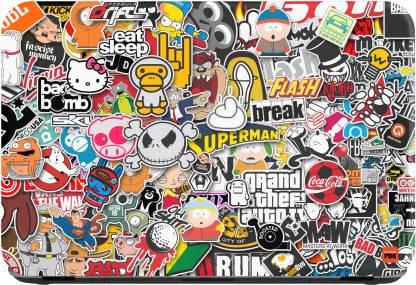 STICKER PRO Sticker Bomb Vinyl Laptop Decal: Best Skin Cover For Laptop