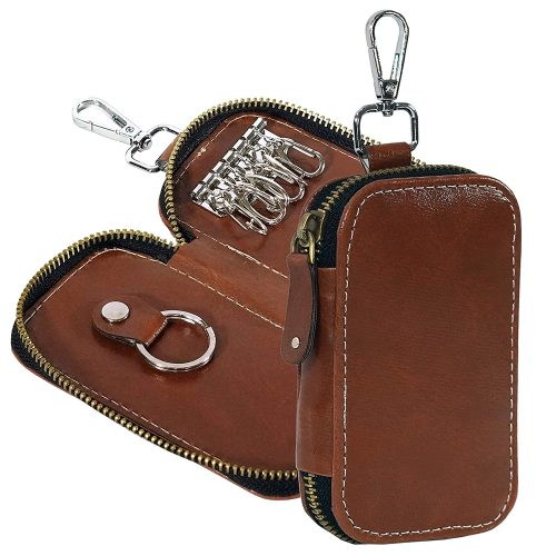 Storite PU Leather Key Case Pouch Wallet Keychain: Keychain